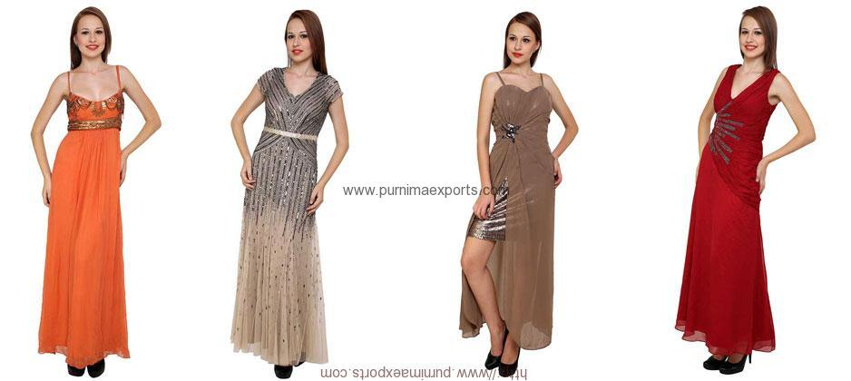Evening Dresses Manufacturer & Suppliers