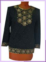 Embroidered Evening Tops and Blouses