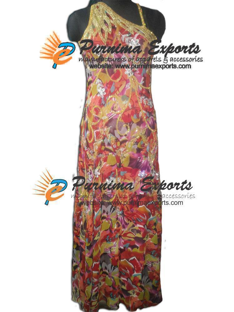 Printed Embroidered Dresses (PE-208)