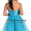 Strapless Crystals Sheath Short Prom Dress