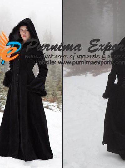 Hooded Velvet Coats Manufacturer