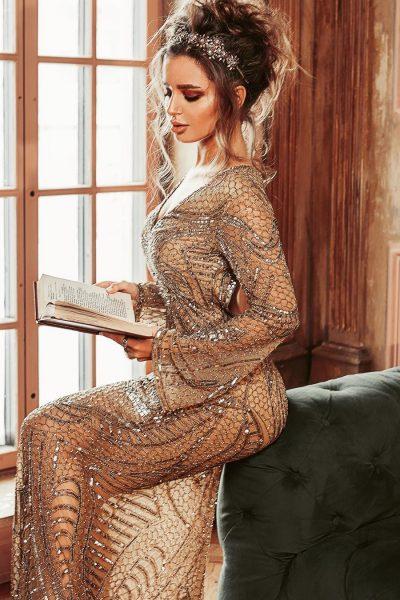 Sequin Evening Dress Manufacturer, India