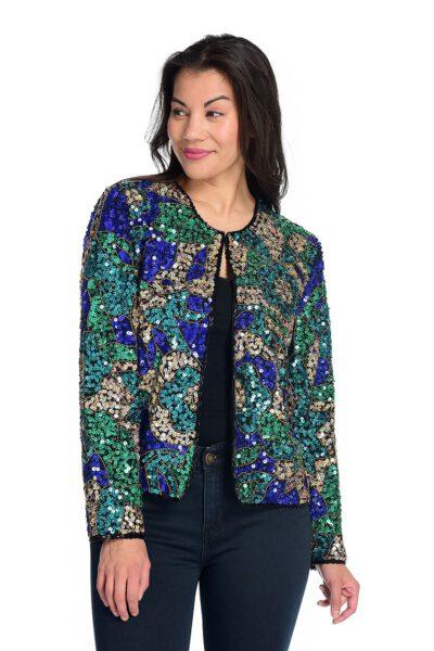 Women Beaded and Sequin Jacket