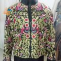 Bomber Jacket with Thread Embroidery Work