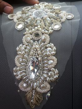 Pearl, Mirror and Rhinestone Embroidery